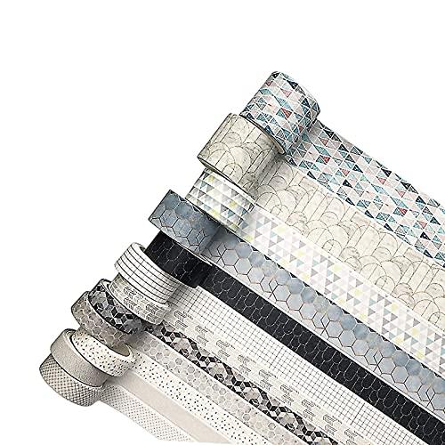 Washi Tape,12 Rollos Cinta Washi 3m Cinta Decorativa Adhesiva Decorativas Washi Tape...