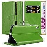 Cadorabo Funda Libro para Sony Xperia E5 en Verde Hierba - Cubierta Proteccíon con Cierre Magnético, Tarjetero y Función de Suporte - Etui Case Cover Carcasa