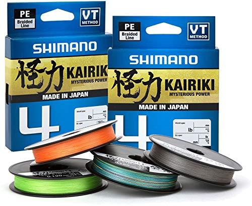 SHIMANO Tresse 4 Brins Kairiki 4 Mantis Green 3000m - D.0,1mm - R.6,8Kg - LDM94TE0810030G