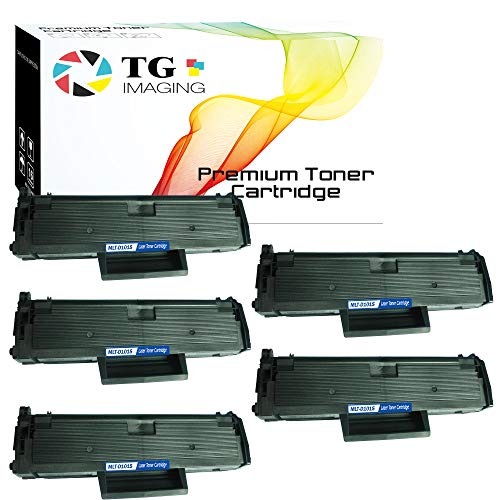 (5 Pcs Value Pack) TG Imaging Compatible MLTD101S MLT-D101S Toner Cartridge 101s Used for Samsung Xpress SCX-3400 SCX3405W SF-760P ML-2160 ML-2165 Printer