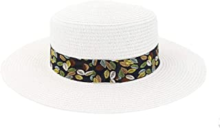 SHENTIANWEI Spring Summer Straw Sun Hat Beach Travel Tourism Beach Hat Sun Visor New Women Color Leaf Printing Flat Cap
