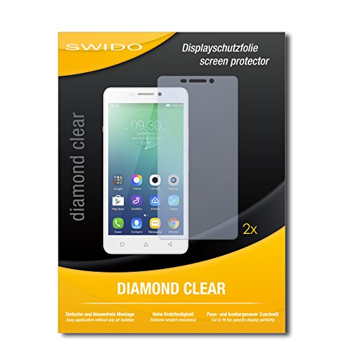 SWIDO 2 x Bildschirmschutzfolie Lenovo Vibe P1m Schutzfolie Folie DiamondClear unsichtbar
