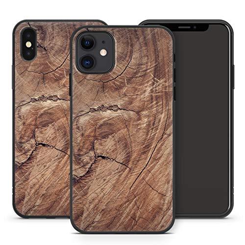 Cellbell LTD - Custodia in legno per Apple iPhone in silicone, motivo: animali