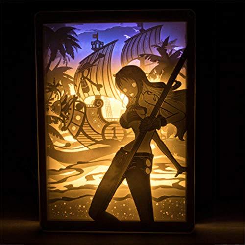 Leeslamp bedlampje tafellamp bureaulamp tafellamp tafellamp één stuk cartoon doorboord licht en schaduw papier carving lamp Action Figure Afstandsbediening Light-18X25.5Cm