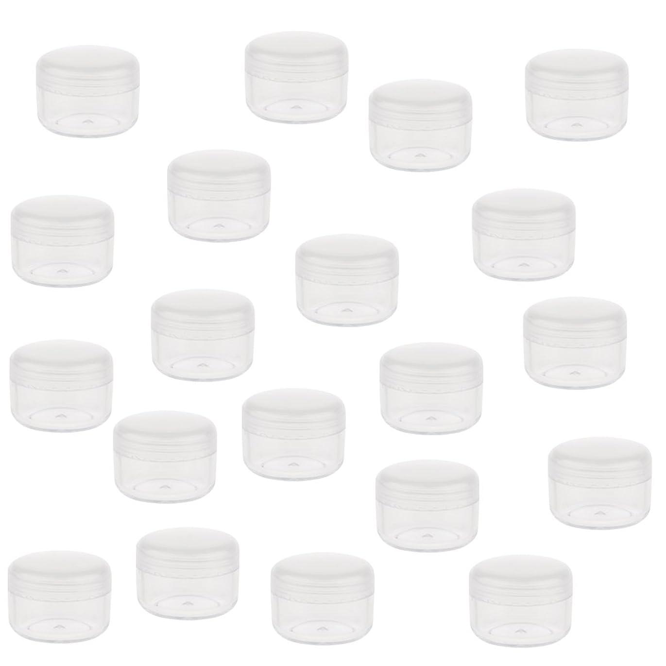大洪水悪性のありがたいCUTICATE 小型 化粧ポット瓶 化粧品 クリームジャーポット 蓋付き 化粧品容器 ポータブル 20個 全2サイズ - 5g