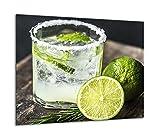 TMK | Placa de cristal para cubrir la cocina de 60 x 52 cm, una sola pieza, protección contra salpicaduras, decoración para tabla de cortar, color verde