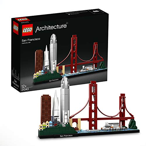 LEGO 21043 Architecture Skyline Collection San Francisco, Set de Construcción, Modelo de Coleccionista, Maqueta Decorativa