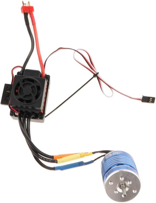 venta con alto descuento NON Baoblaze Motor Sin Cepillo Accesorios para para para 1 8 1 10 1 12 RC Coche - 2200KV + 45A  Mejor precio