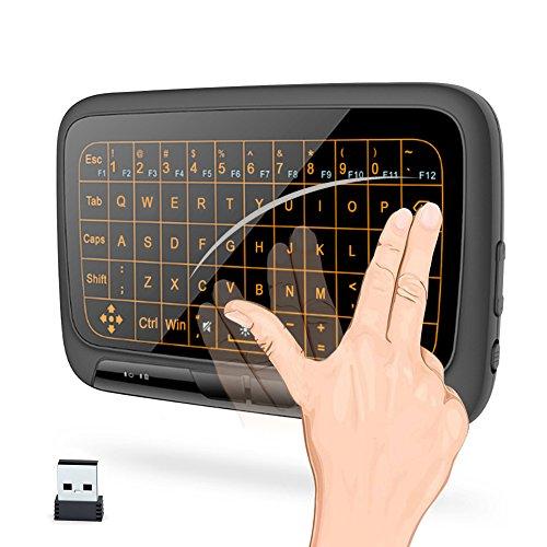 2.4G-toetsenbord Mini draadloos toetsenbord met multipoint touchpad Ingebouwde USB-muis met achtergrondverlichting