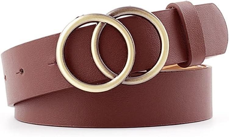 ZCPCS Free shipping sale on posting reviews Double Ring Women Belt Waist PU All-Match Fashion Lea