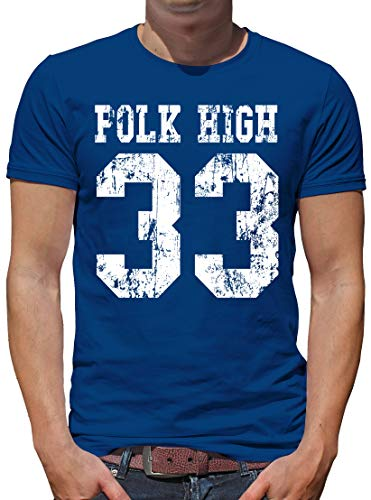TShirt-People Polk High 33 Bundy T-Shirt Herren L Royalblau