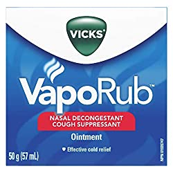 Vicks works wonders opening up congestion during cold and flu season. We use this topical relief choice often in our home.