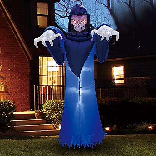 Joiedomi Halloween 8 FT Inflatable Spooky Warlock with Build-in LEDs Blow Up Inflatables for Halloween Party Indoor, Outdoor, Yard, Garden, Lawn Decorations