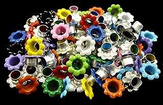100pcs aluminium Mixed Colors Flowers EYELET Scrapbooking CARD Hole LeatherCraft E099