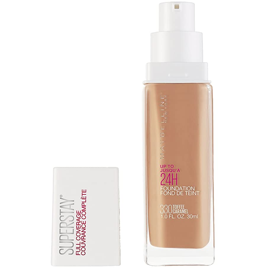 原理耕すピラミッドMAYBELLINE Superstay Full Coverage Foundation - Toffee 330 (並行輸入品)