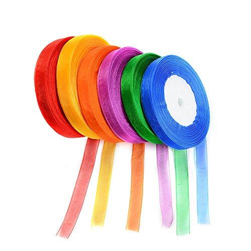 Idealeben 6pcs multicolore nastri decorativi perfetti per i regali, contenitore di caramella di...
