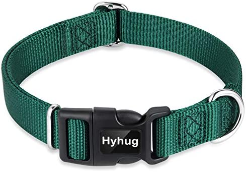 Hyhug Pets Solid Color Classic Regular Heavy Duty Basic Collar for Large Breeds Dogs Daily use product image