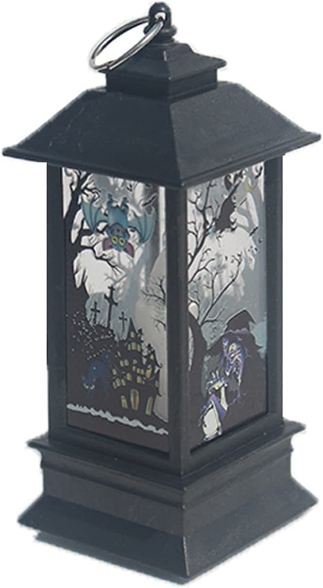 KinAndKen Halloween Ranking TOP3 Candle Lamp battery Max 83% OFF Glowing button Built-in