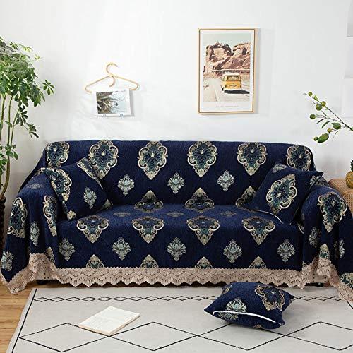 SAZDFY Gedruckt Sofa Abdeckung,Anti-Slip Sofa Sofabezüge Haustierschutz,Für 1 2 3 4 Kissen Raupe Jacquard Couch-Abdeckung Vollständige Abdeckung Waschbar -D 180x240cm(71x94inch)
