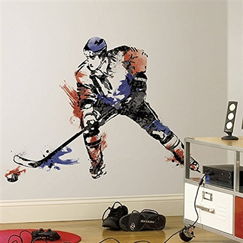 Hochwertiger Wandtattoo Tattoo Wand Tattoo Eishockeyspieler Eishockey künstlerisch mit außergewöhnlichem Design macht die Wand zu einen echten Blickfang