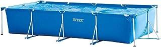 INTEX Rectangular Frame Pool, Multi-Colour, Ages 6+, 28273