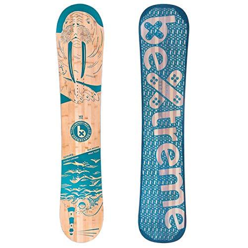 Bextreme Tabla Snowboard Waves 2020 polivalente Freestyle y Freeride. Eco Snowboard Bambu. Medidas 152, 157 y 160cm