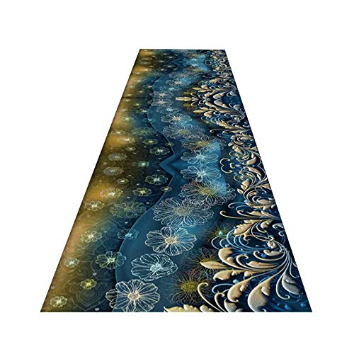 GuoWei Long Runner Rugs, Elegant Entrance Mat With Slip Resistant Backing, Cuttable Area Rugs for Kitchen Corridor Stairway, Custom Length (Color : A, Size : 1.6x3m)