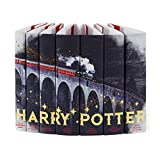 Juniper Books Harry Potter Train Design DUST JACKETS ONLY with Gold Metallic Details   Custom Book Covers for Your 7-Volume Hardcover Harry Potter Book Set published by Scholastic   BOOKS NOT INCLUDED