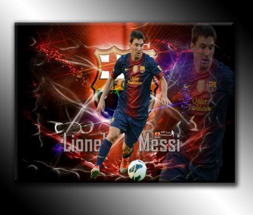 Canvas35 Lionel Messi F.C. Kunstdruck auf Leinwand, Motiv Barcelona-Fußball, 76 x 51 cm