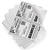 FungLam Shipping Labels with Self Adhesive, for Laser & Inkjet Printers, 8.5 x 5.5 Inches, White, Pack of 1000 Labels