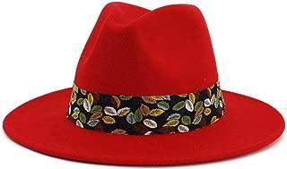 XinLin Du Soft Women Vintage Wide Brim Wool Felt Bowler Fedora Hat Floppy Cloche Women's Panama Hat