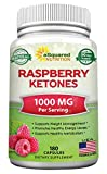 All Natural Raspberry Ketones 1000mg - 180 Capsules - Weight Loss Supplement, Max Strength Plus...