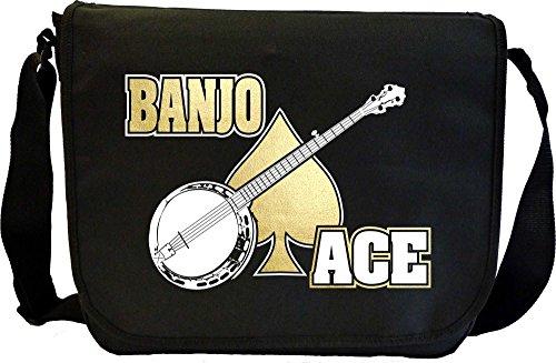 MusicaliTee Banjo Ace - Sheet Music & Accessory Messenger TRIO Bag