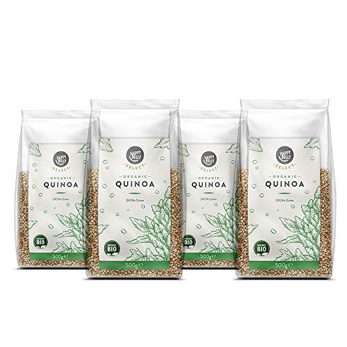 Marque Amazon - Happy Belly Select - Quinoa biologique, 4 x 500g