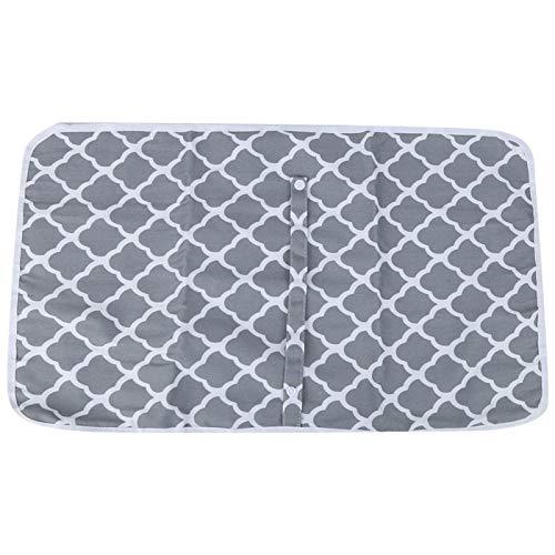 Colchoneta para cambiar pañales para bebé, plegada, para cunas de juego(Geometric gray)