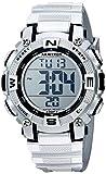 Armitron Sport Unisex 45/7099SIL Digital Chronograph Silver-Tone Resin Strap Watch