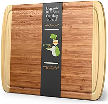 Greener Chef 18 x 12.5 Inch Extra Large Bamboo Cutting Board