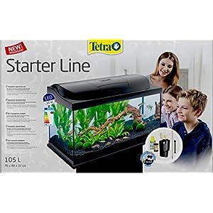 Tetra Aquarium 105 Litre Starter Line LED Fish Tank Complete Set with LED Light Filter and Heater