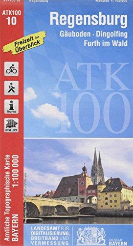 ATK100-10 Regensburg (Amtliche Topographische Karte 1:100000): Gäuboden, Dingolfing, Furth im Wald: Gäuboden, Dingolfing, Furth im Wald, Schwandorf, ... Topographische Karte 1:100000 Bayern)