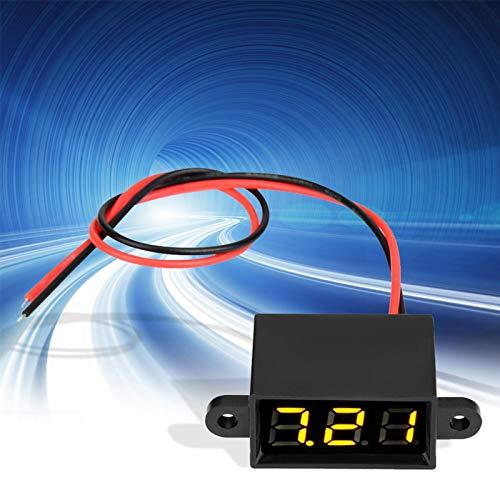 Shipenophy Continuidad Pantalla LED Medidor de Voltaje Sellado DC 3.0-30V Voltímetro Digital...