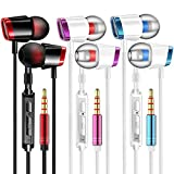 V4 Headphones Earphones Earbuds Earphones, Noise Islating, High Definition, Stereo for Samsung, iPhone,iPad, iPod and Mp3 Players (Mixed)