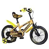 FUFU Bicicleta para Niños con Ruedas De Entrenamiento, Bicicleta De Amortiguador De 14 Pulgadas, Adecuado para Niños Y Niñas De 3 A 5 Años.