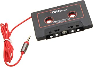 D DOLITY Black in Car Audio Cassette Tape Adapter with Aux Cable Cord 3.5mm Jack for to MP3/4 iPod iPhone