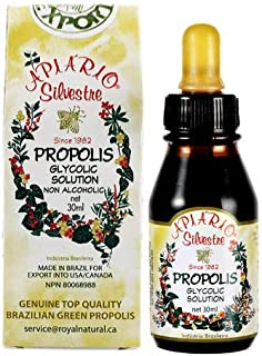 Official Distributor (Royal Apis Global Limited) - 1 Bottle of Apiario Silvestre Brazilian Green Bee Propolis Liquid Glyco...
