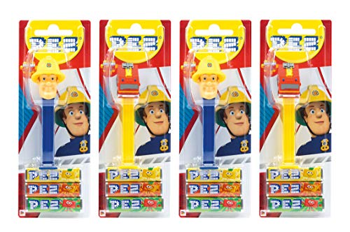 PEZ Spender Feuerwehrmann Sam (4 PEZ Spender/2 Sortimente mit je 3 PEZ Bonbons á 8,5g) + 2 Nachfüllpacks (8 PEZ Bonbons á 8,5g)