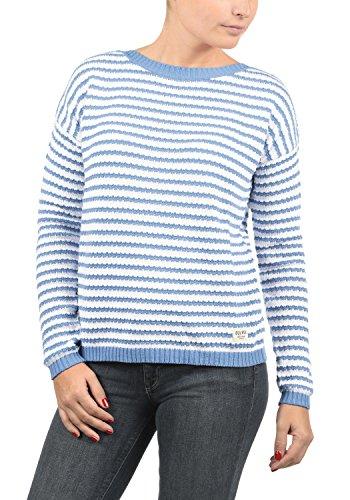 DESIRES Hilde Damen Winter Strickpullover Troyer Grobstrick Pullover, Größe:L, Farbe:Sky Blue (1025)
