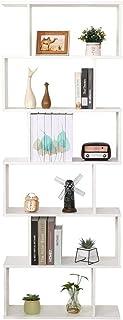 Librería estantería blanca oficina moderna contemporánea bifacial divisor madera casa día 70 x 235 x 190 independiente es...