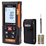 Laser Measure,TACKLIFE Laser Distance Meter 40m with Two Bubble Level, Rang Finder with m/in/ft Conversion,Pythagorean Mode,Distance,Area and Volume Measurement,LCD Display,Mute and Data memory-HD-40