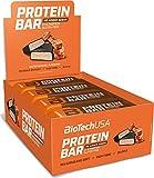 BioTechUSA Protein Bar - barrita de proteínas con alto contenido proteico, sin azúcar añadido, con proteína del suero y colágeno, 16 * 70 g, Caramelo salado