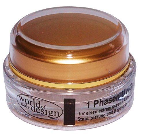 World of Nails-Design 1 Phasen UV-Gel dünn-viskose für dünne und spröde Naturnägel (1 x15 ml)